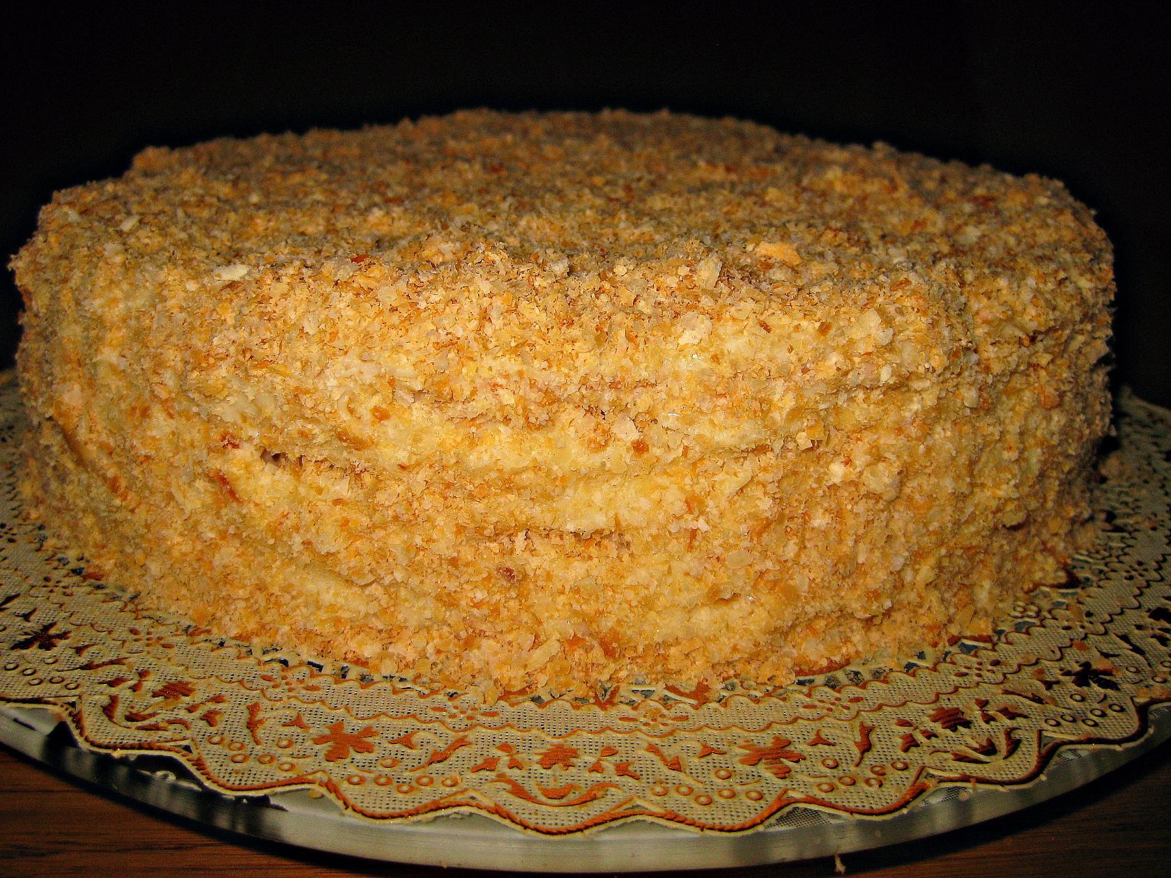 Торт Наполеон в домашних условиях - рецепт с фото 19